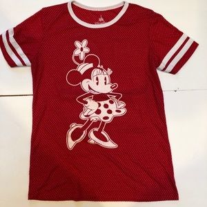 Disney parks Minnie Mouse athletic red jersey Sz M